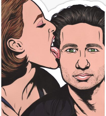 Mulder and Scully X Files Sticker