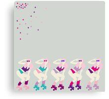 Pink Peng Canvas Print