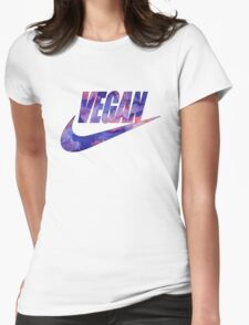 vegan purple!  Womens Fitted T-Shirt