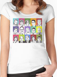 The Office Cast Women's Fitted Scoop T-Shirt