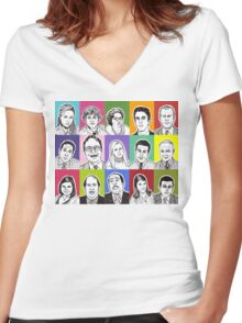 The Office Cast Women's Fitted V-Neck T-Shirt