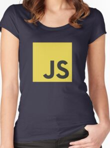 Javascript js stickers and shirts Women's Fitted Scoop T-Shirt