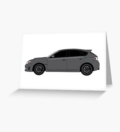 Subaru WRX Hatchback  Greeting Card