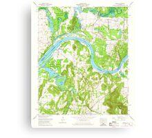 USGS TOPO Map Alabama AL Triana 305236 1964 24000 Canvas Print