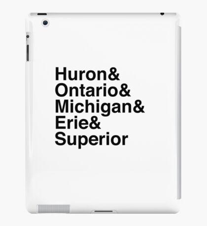 Helvetica List - Great Lakes iPad Case/Skin