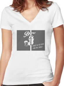 Beer Feeling Funny Quote Women's Fitted V-Neck T-Shirt