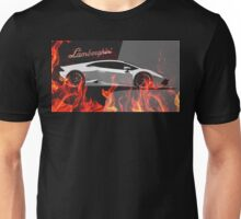 Lamborghini Gallardoon fire illustration Unisex T-Shirt