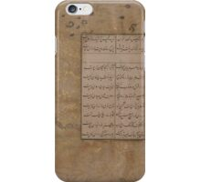 Page of Calligraphy , islamic iPhone Case/Skin