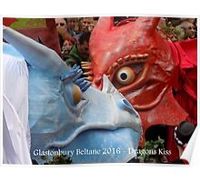 Glastonbury Beltane - The Red and White Dragons Poster