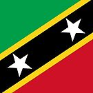 St Kitts and Nevis Flag Stickers by Mark Podger