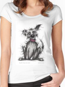 Fluffy the cute dog Women's Fitted Scoop T-Shirt