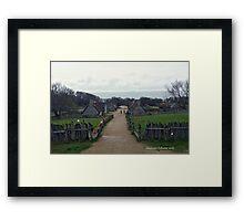 Plymouth Plantation Framed Print