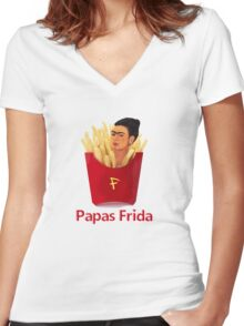 Papas Frida Women's Fitted V-Neck T-Shirt