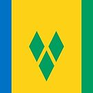 St Vincent and the Grenadines Flag Stickers by Mark Podger