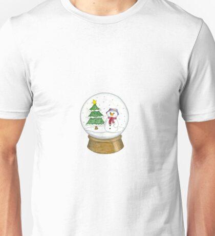 Snowman Snowglobe Unisex T-Shirt