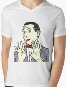 Pee Wee Herman Mens V-Neck T-Shirt