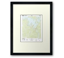USGS TOPO Map Alabama AL Red Hill 20110923 TM Framed Print