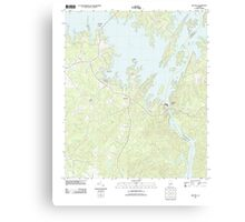 USGS TOPO Map Alabama AL Red Hill 20110923 TM Canvas Print