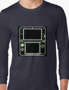 "ALIEN 3DS XL: glowing green sci-fi nintendo outline - ""The Gamer Collection"" Long Sleeve T-Shirt"