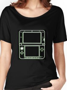 "ALIEN 3DS XL: glowing green sci-fi nintendo outline - ""The Gamer Collection"" Women's Relaxed Fit T-Shirt"