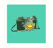 Smiley camera Art Print