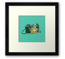 Smiley camera Framed Print