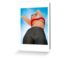 Heavenly Body In The Deep Blue Yonder Greeting Card