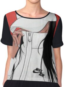 Fitness Art With Girl in Nike Chiffon Top
