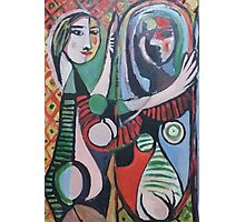 AFTER PICASSO - GIRL BEFORE MIRROR - 1932(MY VERSION)(C2015) Photographic Print