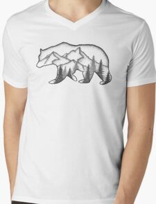 Bear Wild Mens V-Neck T-Shirt
