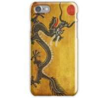 Green Dragon - Red Sun iPhone Case/Skin