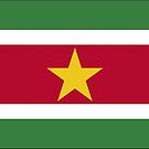 Suriname Flag Stickers by Mark Podger