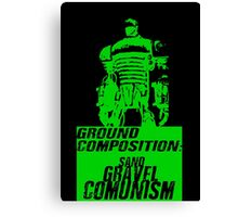 Ground Composition - Green Canvas Print