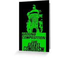 Ground Composition - Green Greeting Card