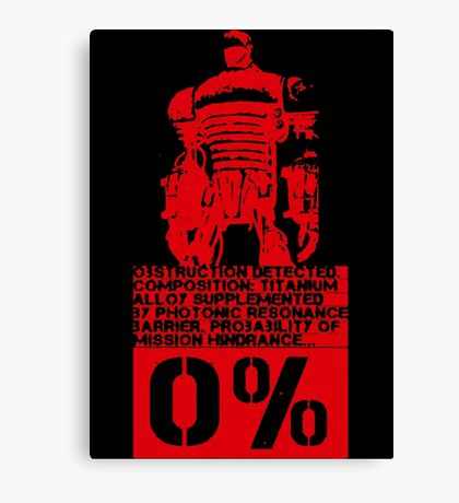Obstruction Detected - Red Canvas Print