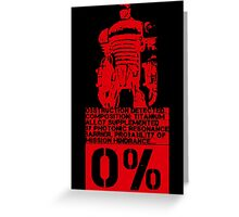Obstruction Detected - Red Greeting Card