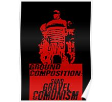 Ground Composition - Red Poster