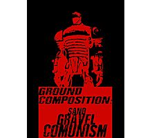 Ground Composition - Red Photographic Print