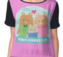 Bear Family Day Chiffon Top