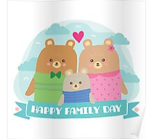 Bear Family Day Poster
