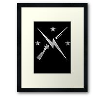 United we stand - silver Framed Print