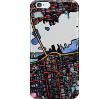 Abstract Map of New Bedford iPhone Case/Skin