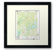 USGS TOPO Map Alabama AL Crane Hill 303601 2000 24000 Framed Print