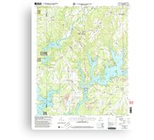 USGS TOPO Map Alabama AL Crane Hill 303601 2000 24000 Canvas Print