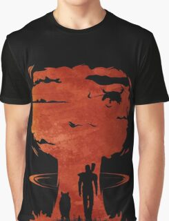 Atomic Warfare - Orange Graphic T-Shirt
