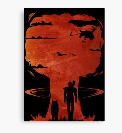 Atomic Warfare - Orange Canvas Print