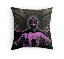 Ghost - purple pain Throw Pillow