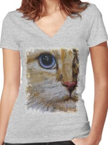 Ragamuffin Women's Fitted V-Neck T-Shirt