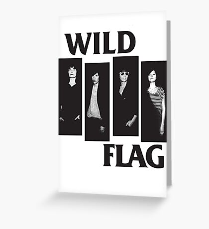 wild flag weiss carrie brownstein Greeting Card