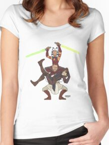 Obi Juan needs some ho Women's Fitted Scoop T-Shirt